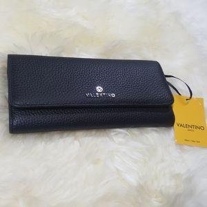 Valentino by Mario Val. Black Leather Juniper Bag